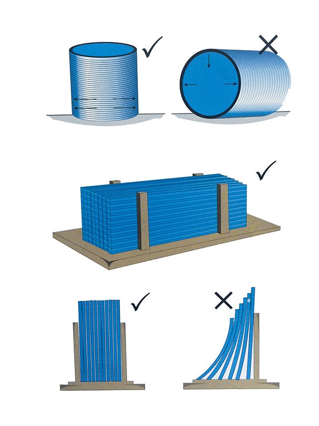 Cách bảo quản tấm lợp lấy sáng polycarbonate khi để đứng